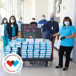 World's Finest Chocolate: Chocolate for Healthcare Heroes donation in Texas
