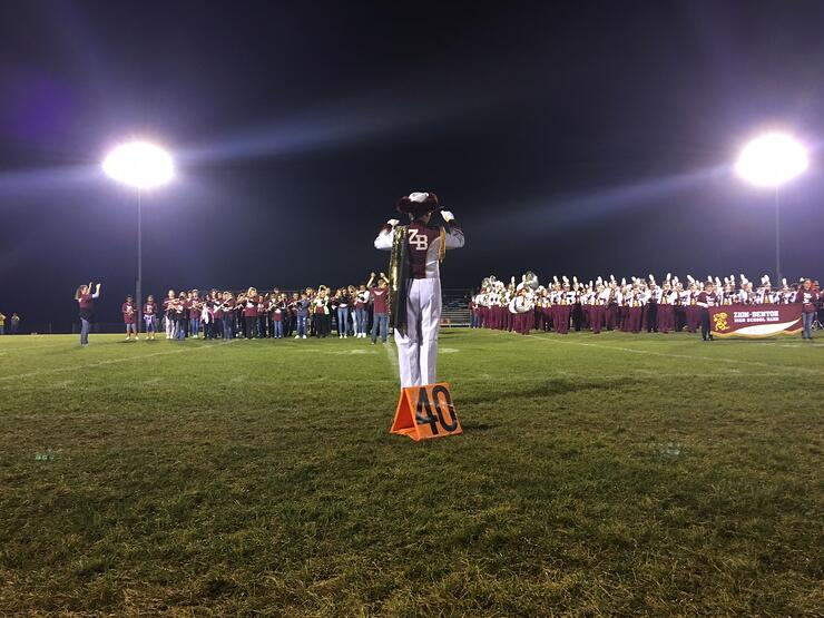 Picture: The Zion Benton High School and Jr. High Marching Bands, kicking off a multi-year fundraising drive for new uniforms