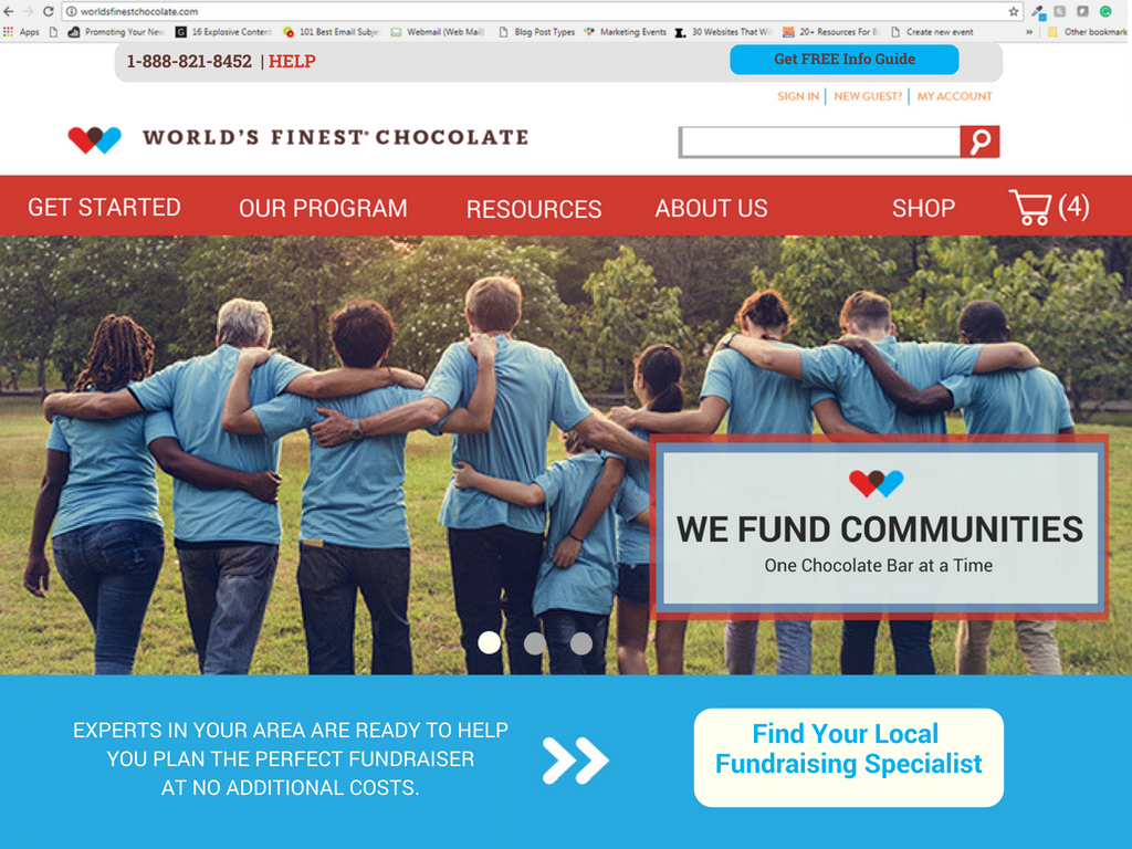 New Homepage for World's Finest Chocolate